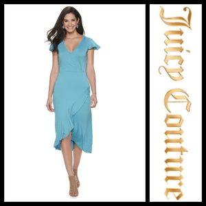 Juicy Couture Delphinum Blue Faux Wrap Dress NWT
